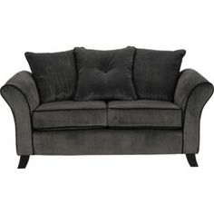 Buy Daisy Regular Sofa - Charcoal with Black Piping at Argos.co.uk - Your Online Shop for Sofas.