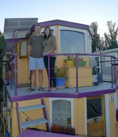 Eric & Mary living on a houseboat. Another Tiny Home choice. What a view in Seattle's Lake Union