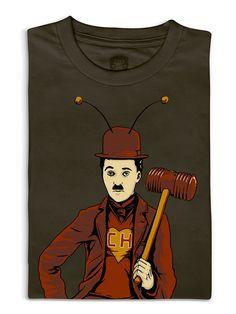 Camiseta Chaplin - Filmes, Seriados, Desenhos - Linux Mall - Loja nerd e geek com Camisetas geek, Livros, Acessórios, Toys, etc  Seria Charlie Chaplin o polegar vermelho?    Preço de lançamento: R$49.00