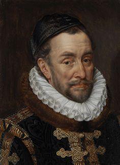 Portret van Willem I (1533-84), prins van Oranje, genaamd Willem de Zwijger, Adriaen Thomasz. Key, ca. 1579