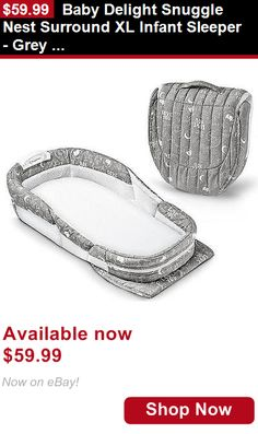 Baby Co-Sleepers: Baby Delight Snuggle Nest Surround Xl Infant Sleeper - Grey Elefante BUY IT NOW ONLY: $59.99