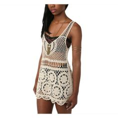 100% Cotton Crochet Open Weave Top at 76% Savings off Retail!