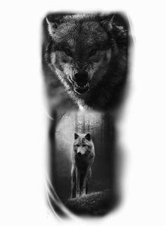 Wolf tattoo, tatuagem de lobo