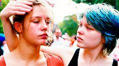 * ** lea seydoux Adele Exarchopoulos La vie d'Adèle blue is the warmest color Adele Exarchopoulos, Blue Is The Warmest Colour, Madly In Love, Warm Colors, Dory, Beauty, Movies, Woman Crush, Blue