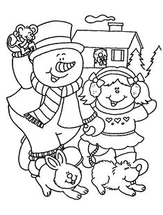 Coloring Page - Christmas snowman coloring pages 19