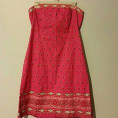 New York  Company pink dress Aztec design cotton and spandex. Never worn . nwot New York Company  Dresses Midi