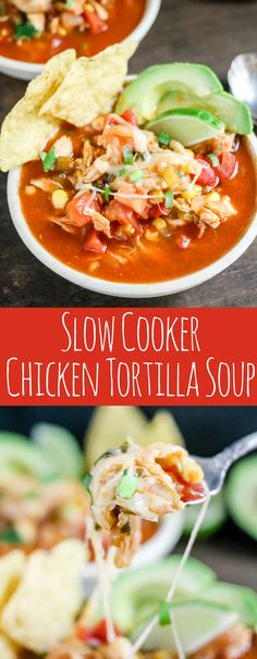 Slow Cooker Chicken Tortilla Soup is the perfect healthy comfort food. Set it and forget it; this soup is going to become a regular in your dinner rotation! #ad #herbalife