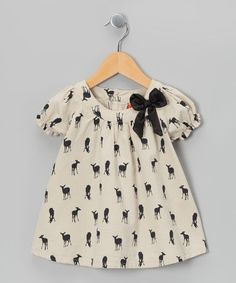 Cream Deer Print Swing Top - Toddler & Girls by Funkyberry
