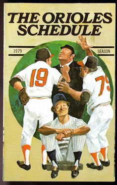 1979 BALTIMORE ORIOLES CROWN STATIONS GAS BASEBALL SCHEDULE EX+MT FREE SHIP #Schedule