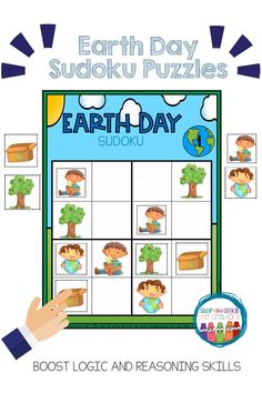 Are you looking for a fun activity for Earth Day that keeps students engaged, learning and on-task? These beginner (PICTURE) Earth Day Sudoku puzzles are perfect to activate a student's logic and reasoning skills! These versatile puzzles can be used in a Sudoku Puzzles, Puzzles For Kids, Phonics Activities, Math Games, Math Center Rotations, Earth Day Pictures, Math Talk, Spring School, Earth Day Activities