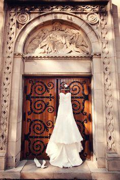 Dress on display // Photo by Jeanine. #minneapolisweddingphotographer #weddingphotography
