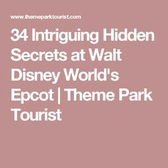34 Intriguing Hidden Secrets at Walt Disney World's Epcot | Theme Park Tourist