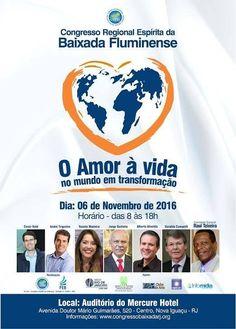 Congresso Regional Espírita da Baixada Fluminense - RJ - http://www.agendaespiritabrasil.com.br/2016/06/21/congresso-regional-espirita-da-baixada-fluminense-rj-2/