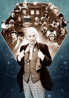 """First Doctor - William Hartnell """"Nonsense"""" Thank you Sir for getting the party started! :)"""