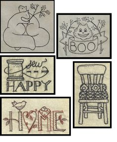 Embroidery patterns, before and after projects, give-aways, chalkboard doodles,  a bit of this and a lot of that!