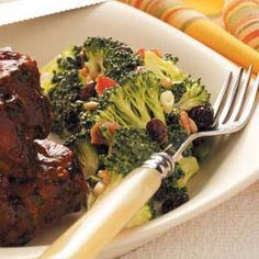"Sunflower Broccoli Salad Recipe -""This crisp salad is so refreshing we always lick the bowl clean,"" says Marilyn Newcomer of Sun City, California."
