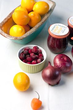 Cranberry Meyer Lemon Chutney