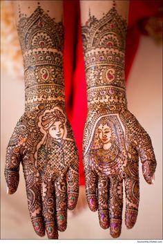 Bride Groom Mehndi Designs (For weddings)