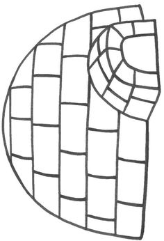 Igloo coloring sheet. Can fill with tissue paper, cotton balls etc