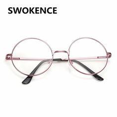 2a7a90c5226b2 SWOKENCE High Quality Alloy Glasses Frame Women Men Retro Designer Round No  Diopter Spectacle Prescription Optical Frames F104 Review