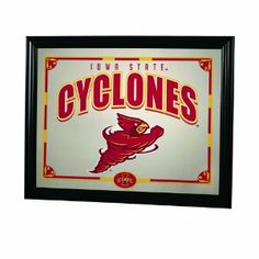 """NCAA Iowa State Cyclones 22"""" Printed Mirror by The Memory Company. $34.99. Framed Mirror. 18"""" tall by 13"""" wide.. Boast team colors and logo.. NCAA Iowa State 22"""" Printed Mirror"""