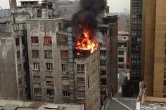 El sitio donde vivían era un antiguo bloque de apartamentos que se habia incendiado.