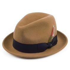 b8ea0d53b4a Jaxon   James Crushable Blues Trilby - Pecan Jaxon Hats
