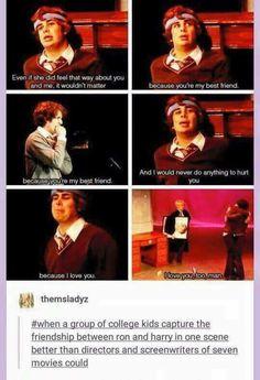 Those films were sad script wise. Harry Potter Universal, Harry Potter Fandom, Harry Potter World, Harry Potter Memes, Very Potter Musical, Avpm, Team Starkid, Drarry, Mischief Managed