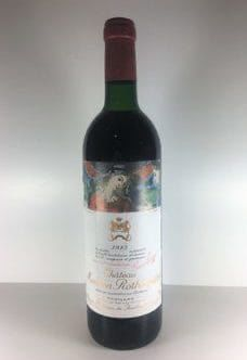 Château Mouton Rothschild 1985 Mouton Rothschild, Wine Prices, Bordeaux, Red Wine, Alcoholic Drinks, Bottle, Glass, Drinkware, Bordeaux Wine