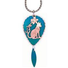 Cat Blue Patina Necklace