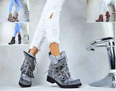 Trendy Stiefeletten Damen Schuhe Stretch Keilabsatz Wedges 36 37 38 39 40 41