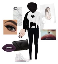 """""""rocker/punk/emo look"""" by aubrey-corbett on Polyvore featuring NIKE, Converse, Yves Saint Laurent, UGG Australia, Uncommon and ncLA"""