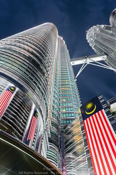 De Petronas Torens in Kualua Lumpur, Maleisie.