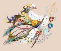 Santa's Magic - (Note to self.instructions on sewing board - cross stitch section. Santa Cross Stitch, Cross Stitch Pillow, Cross Stitch Animals, Counted Cross Stitch Patterns, Cross Stitch Charts, Cross Stitch Embroidery, Christmas Yard Art, Christmas Cross, Cross Stitching