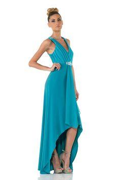 #glamour #fashion #springsummer 2014 #woman #girl #cocktaildress  #partydress #dress #longdress #abitoelegante #blu #elegance