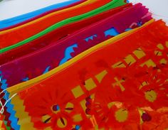Mexican banner, aztec home decor, tribal, papel picado banner, decoration, mexican party decor, day of the dead. $13.50, via Etsy.