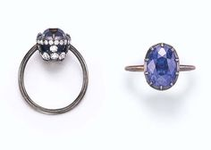 Sapphire and diamond ring by JAR from Christie's 2006 sale of Ellen Barkin's jewelry collection http://www.christies.com/lotfinder/lot/a-sapphire-and-diamond-ring-by-jar-4786014-details.aspx?from=salesummary=4786014=ea3aeab7-645a-4f0e-8c19-7f13b0682ee1