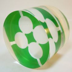 Plexi Glas / Acryl Glas Objekt / Paperweight • original 70's • Panton, Eames Era