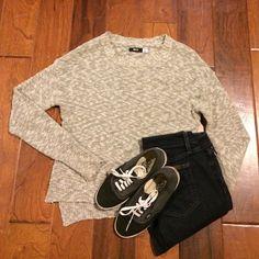 Urban Outfitters sweater Lightly worn cream and black sweater. Urban Outfitters Sweaters Crew & Scoop Necks