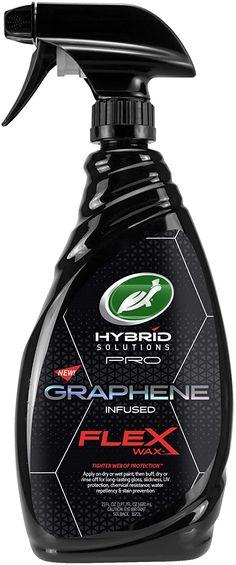 Turtle Wax 53477 Hybrid Solutions Pro Flex Wax, Graphene Spray Wax, 23 oz. Spray Bottle, Turtle, Car Covers, Patent Pending, Showroom, Paint, Simple, Water