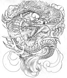 full dragon sketch - Google Search