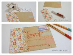 Resultado de imaxes para snail mail decorating