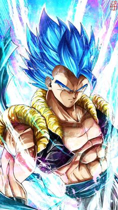 Gogeta Super Saiyajin Blue Anime quotes and memes and sexy anime artwork & drawings of manga and anime art that i find interesting and like to draw for myself as well. Dragon Ball Gt, Dragon Ball Image, Blue Dragon, Image Dbz, Fan Art, Photo Dragon, Mega Anime, Fanart Manga, Gogeta And Vegito
