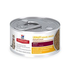 Hill's Science Diet Adult Urinary & Hairball Control Savory Chicken Entrée Canned Cat Food, 2.9 oz, 24-pack - Hairballs and urinary issues are two of the most common health concerns encountered by owners of household cats. You can help support urinary health and reduce hairballs with Science Diet Urinary & Hairball Control wet cat food. This premium wet food for cats provides the optimal level of magnesi...