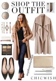 Self-drying sandal coat with open front Mode & Beauty Look Fashion, Fashion Outfits, Womens Fashion, Fashion Clothes, Fashion Photo, Fashion Models, Fashion Usa, Clothes Women, Fashion Killa