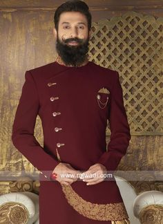New Arrival Maroon Color Indo Western Mens Indian Wear, Mens Ethnic Wear, Indian Groom Wear, Indian Men Fashion, Wedding Dresses Men Indian, Wedding Dress Men, Mens Hottest Fashion, Mens Fashion Suits, Boys Kurta Design