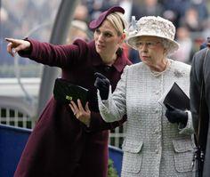 Zara Phillips with her grandmother Queen Elizabeth II.