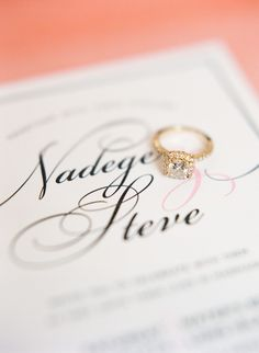 Gorg gold engagement ring | Read More: http://www.stylemepretty.com/2014/07/16/classic-long-island-city-wedding/ | Photography: Lindsay Madden Photography - lindsaymaddenphotography.com