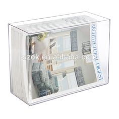 A4 clear acrylic printed custom paper tray holder for office