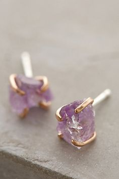 Beautiful mineral stud earrings #anthrofave http://rstyle.me/n/tce8anyg6